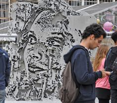 Festival Iminente @festivaliminente is open now! Head down to @trumanbrewery in Brick Lane Yard to see the works from @vhils @bordalo_ii @maismenos @akacorleone @einsigns @addfuel @conorsaysboom @wastedrita @andredaloba and many more! Pic by @juliiea