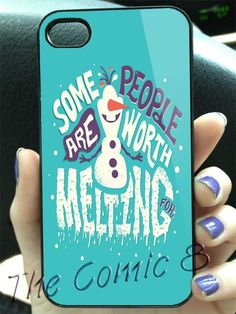 Disney Frozen Olaf Frozen Collage Quotes 2 Design for iPhone 4/4s/5/5s/5c and Samsung Galaxy s3/s4 Case on Etsy, $14.90