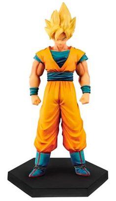 Figura Goku Super Saiyan, 15 cm. Dragon Ball V5. DXF Banpresto. Serie Chozousyu  Figura estatua de Golku en versión Super Saiyan. Esta figura pertenece a la serie CHOZOUSYU la cual está coordinada por Mr.Nakazawa quien ha diseñado más de 100 figuras de Dragon Ball en los últimos 15 años.
