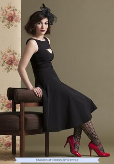 Patent Office Heel in Ruby | Mod Retro Vintage Heels | ModCloth.com