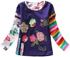 Retail Children t Shirts Kids Flower t-shirt Girls Girls Long Sleeve T Shirt Child Clothing Nova Kids Shirts Mix Shirts For Girls, Kids Shirts, Tee Shirts, Girls Long Sleeve Tops, Long Sleeve Shirts, Flower Shorts, Little Fashionista, Shirt Price, Kids Wear