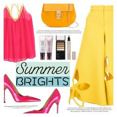 """""""Summer Brights"""" by tasnime-ben ❤ liked on Polyvore featuring Rosie Assoulin, Luciano Padovan, Chloé, Serge Lutens Beauté, By Terry and summerbrights"""