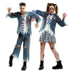 Pareja Estudiantes Zombies #parejas #disfraces #carnaval #novedades2016