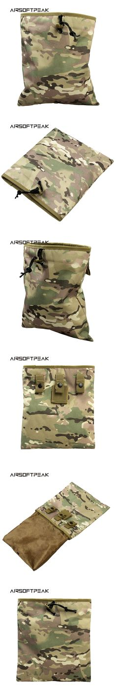 AIRSOFTPEAK Tactical Magazine Recycling Bag Mag Dump Pouch Sundries Large Molle Capacity Military Airsoft Paintball Hunting Bag