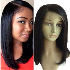 Brazilian Remy Hair 130-150Density Glueless Full Lace Wig Bob Lace Front Wigs For Black Women Short Light Yaki Bob Wigs Straight