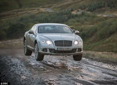 Bentley Continental GT Speed is taken off-road by #topgear. Hit the pic to see more!