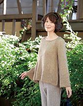 Ravelry: Flared Raglan Sweater pattern by Pierrot (Gosyo Co., Ltd)