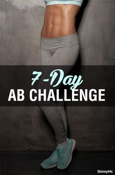 Ab Challenge Beautifully defined abs are possible for anyone and at any age. For the next 7 days, you will be doing workouts designed to challenge you and your midsection. Full Ab Workout, 6 Pack Abs Workout, Lower Ab Workouts, Abs Workout For Women, Six Pack Abs, Fun Workouts, Toning Workouts, Ab Exercises, 7 Day Abs