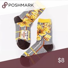 Blue Q, Kick This Day... Socks, NWT Blue Q, Kick This Day In It's Sunshiny *ss Socks, NWT  65% Cotton, 25% Nylon, 10% Spandex Heather Gray Background Yellow & Brown All Over Design Fits Women's Sizes 5-10  A New Brand Is Starting To Arrive  At Emporiama!  Blue Q! For More On Blue Q go to blueq.com Blue Q Accessories Hosiery & Socks