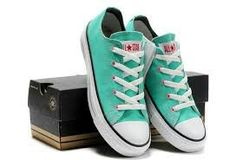 Mint colored converses All star. A hip style that will always be in.