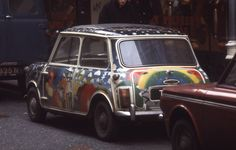 #Sixties |  Psychedelic Mini in Carnaby Street, London, 1969