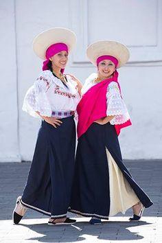 Native american women in Ecuador Traditional dress
