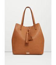 MANGO - Tassel shopper bag - Size:One size - Color:Medium Brown Branded Handbags Online, Branded Bags, Online Bags, Shopper Bag, Tote Bag, Range Bag, Online Shops, Fashion Boutique, Bucket Bag