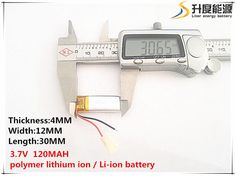 3.7V 120mAh 401230 Lithium Polymer Li-Po li ion Rechargeable Battery cells For Mp3 MP4 MP5 GPS PSP mobile bluetooth #Affiliate