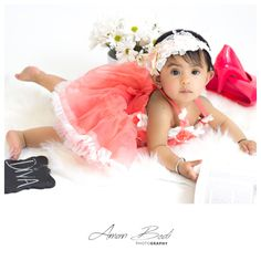 Pink dress baby Photoshoot kids photography new born photography