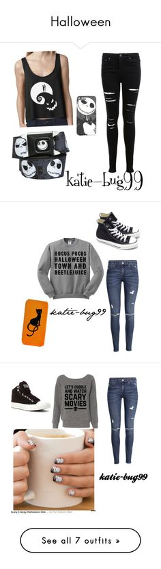 """""""Halloween"""" by katie-bug99 ❤ liked on Polyvore featuring Miss Selfridge, Converse, H&M, Incipio, 7 For All Mankind, CO, Nudie Jeans Co., Theia, Miu Miu and claire's"""