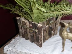 Rustic Handmade Box Planter Vase Basket of Reclaimed Barnwood and Natural…