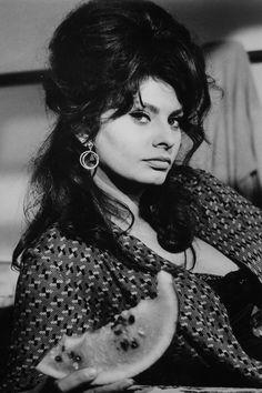 Italian actress Sophia Loren striking a pose on the set of 'Operation. Old Hollywood Stars, Hollywood Glamour, Hollywood Actresses, Classic Hollywood, Hollywood Cinema, Vintage Hollywood, Marlene Dietrich, Brigitte Bardot, Divas