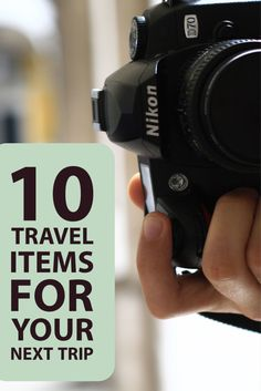10 Travel Items for Your Next Trip! #packing #packinglist #vacation #Travel #travelplanning #trip