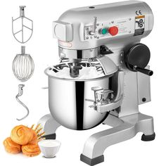 VEVOR Commercial Dough Food Mixer Gear Driven 10 Qt 450W 3 Speed Pizza Bakery · $524.98 Pizza Dough Mixer, Making Pizza Dough, Industrial Mixers, Kitchen Robot, Cooking Restaurant, Electric Foods, Stainless Steel Bowl, Bread Mix, Food Stands