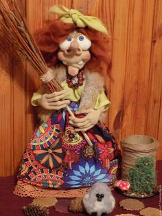 Купить Яга - рыжий, сувениры и подарки, баба яга кукла, купить, ручная работа, оберег