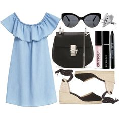 street style by sisaez on Polyvore featuring MANGO, Castañer, Chloé, LUSASUL, Givenchy and Armour