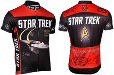 Amazon.com: Retro Men's Star Trek Cycling Jersey: Sports & Outdoors