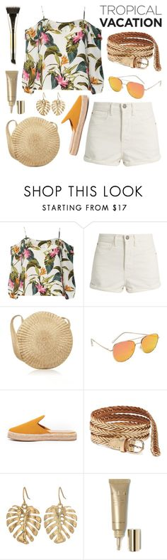 """""""Just Beachy"""" by twenty-7 ❤ liked on Polyvore featuring Dorothy Perkins, Raey, Quay, Kaanas, Old Navy, The Sak, Stila and TropicalVacation"""