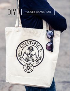 #diy iron on hunger games tote