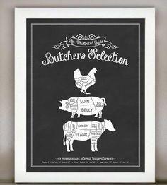 Butchers Kitchen Print.