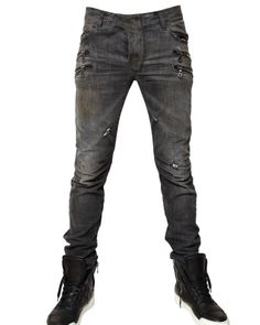 16150a4b9 Balmain | Black Slim Fit Jeans for Men | Lyst Balmain Jeans Men, Shoes With