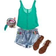 outfit is on the birthday list! finally found high waisted shorts at an affordable price!