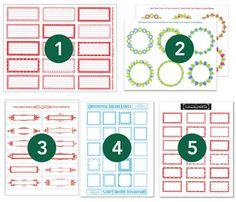 Holiday Label Free Printable Round-Up