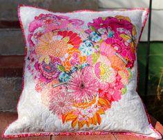 MarveLes Muster Herz Kissen COLLAGE für florale Dekoration Dekorative Kissen pastell Blumen