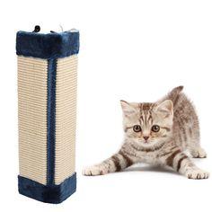 Yeni! Pet Yavru Kedi Duvar Köşe Tırmalama Çizikler Kurulu Mat Post Ağacı Scratcher Sisal Kedi Oyuncakları