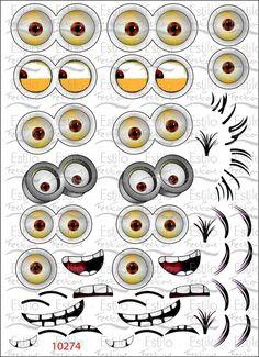 Adesivo olhos dos minions Adesivo para balão turma dos miniosns meu malvado favorito