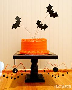 Bat Cake Toppers for Halloween