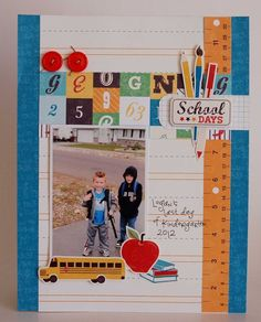 School Days from desginer Kandis Smith. School Days Mini Collection.