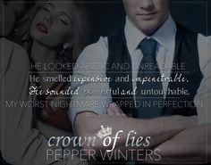 Crown of Lies (Crown of Lies Duet 1) by Pepper Winters #DirtyGirlRomance