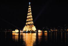 Bildergebnis für Der schwimmende Weihnachtsbaum von Rio de Janeiro.