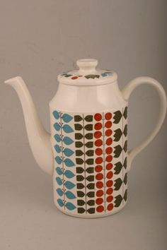 Scandinavian 60s Midwinter Cherry Tree Coffee Pot with Lid
