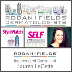 I can not believe just how much my life has changed in JUST ONE MONTH!! I've been so blessed to become a Rodan + Fields Independent Consultant and have this amazing opportunity to work with such wonderful people!! Interested in hearing more about my journey and the company? Shoot me an email-- I'd be glad to answer any questions you might have :) legettelauren@gmail.com Ready to start your own personal journey to financial freedom? Go to laurenlegette.myrandf.biz YOU WON'T REGRET IT!!! xxxo