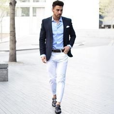 Image result for summer suit ideas contrast