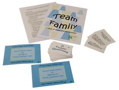 Team Family is an amusing and rewarding card game intended to increase family knowledge and cooperation by asking players to identify family members who they perceive to be most likely or least likely to fit various descriptions. Families work together to try to accumulate enough points together to beat the game! Questions address family cohesion, flexibility, communication, power, affect, general information and just for fun themes.
