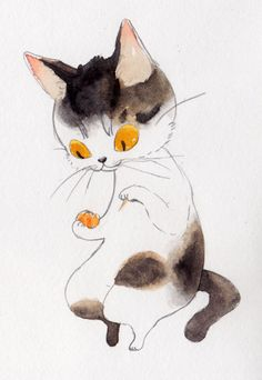 No idea what this says...I just hope it's something nice about cats.  June Grogan