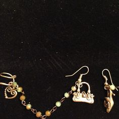 """I Love Vintage """"Ear Story"""" Cuff Earrings by AReflectiveBead on Etsy"""