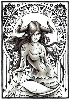 """Astro Taurus""  by Delphine Gache  via google"