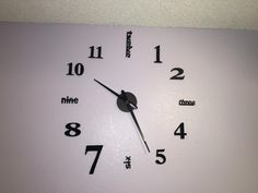 Amazon Hippih Modern 3D Frameless Large Wall Clock Style Watches Hours DIY Room