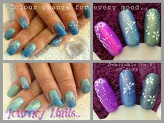 Color change nail gel for a different look. Add some nail art to create something new. Nail art by a local lady in Centurion, South Africa.. 071 244 4709 Contact her for an appointment