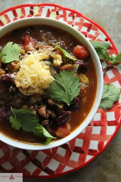 Vegetarian Chili-not expensive and filling